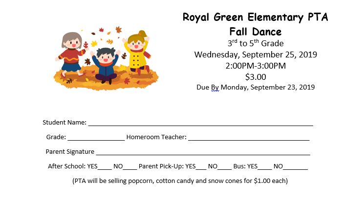 PTA Fall Dance (3rd-5th Grade)