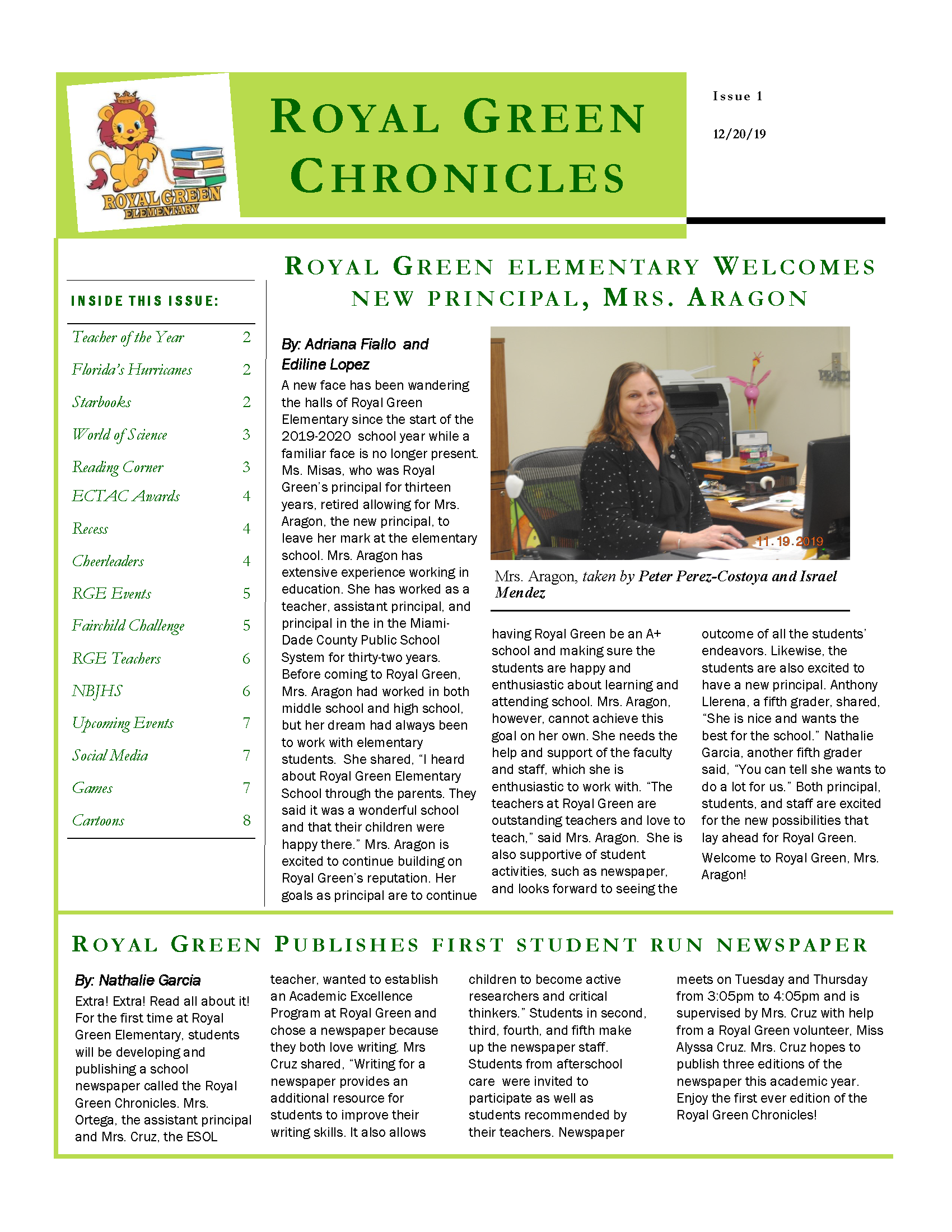 Chronicles Issue 1